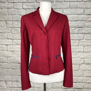 Elie Tahari Frida Stretch Jacket in Berry